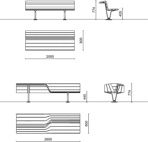 Dimensioni Panchine Da Giardino.Panchine Giardini Pubblici Sedis Sedis Torsion Metalco